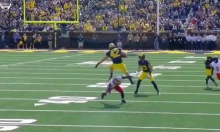 Michigan Fullback Proves Fullbacks are Athletes Too
