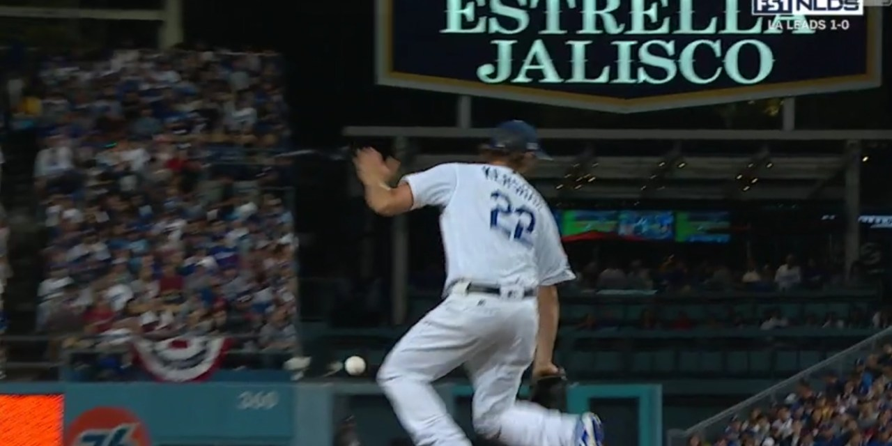 Clayton Kershaw Had His Hamstring Tighten Up after Being Hit with a Comebacker
