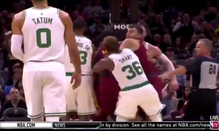 Marcus Smart Ejected after Cheap Shot on J.R. Smith During Scuffle