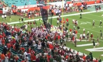 Florida State and Miami Got Into a Pregame Shoving Match