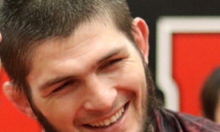 Khabib Nurmagomedov Jokes About his Leap Over the Octagon