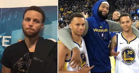 Steph Curry Meets His Long Lost Twins