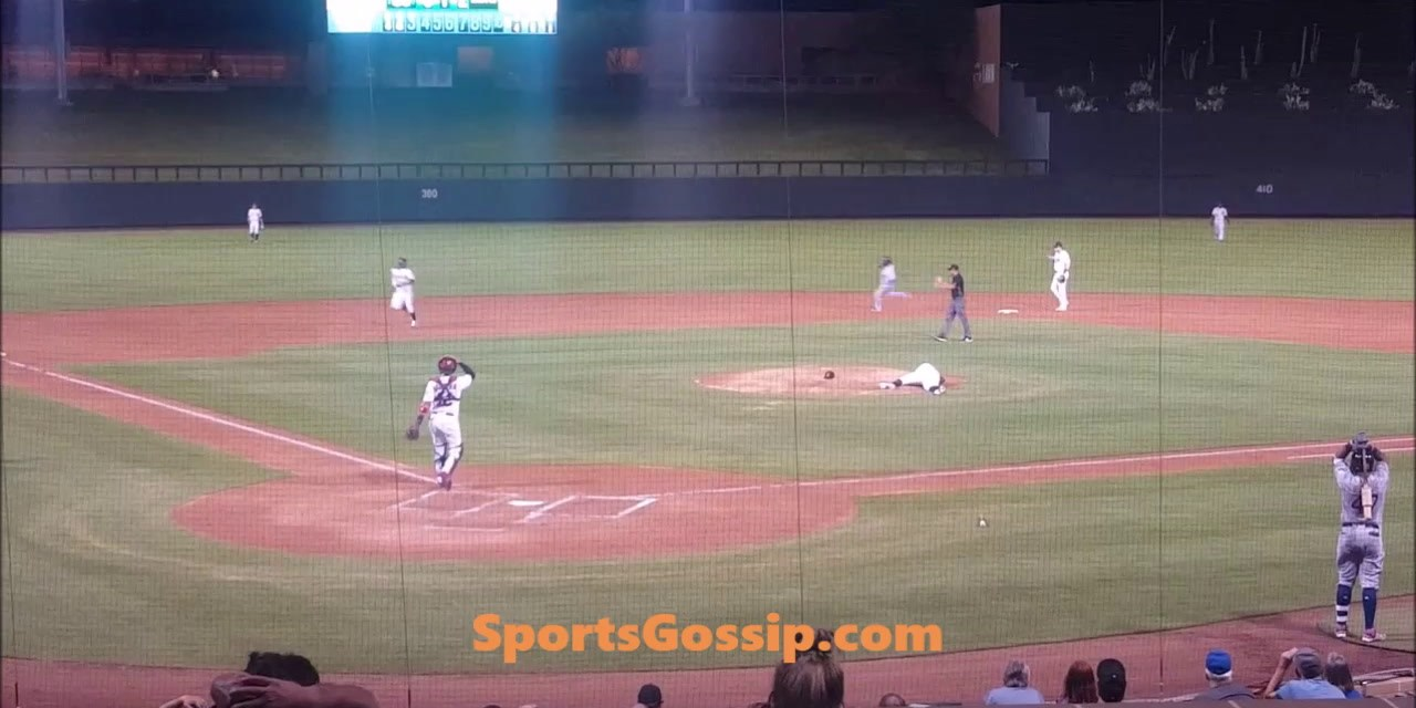 Vlad Jr. Hits 103 MPH Screamer off Pitcher's Head