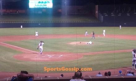 Vlad Jr. Hits 103 MPH Screamer off Pitcher's Head
