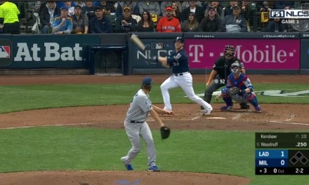 Brewers Pitcher Brandon Woodruff Tied Game 1 with a Home Run Off of Clayton Kershaw