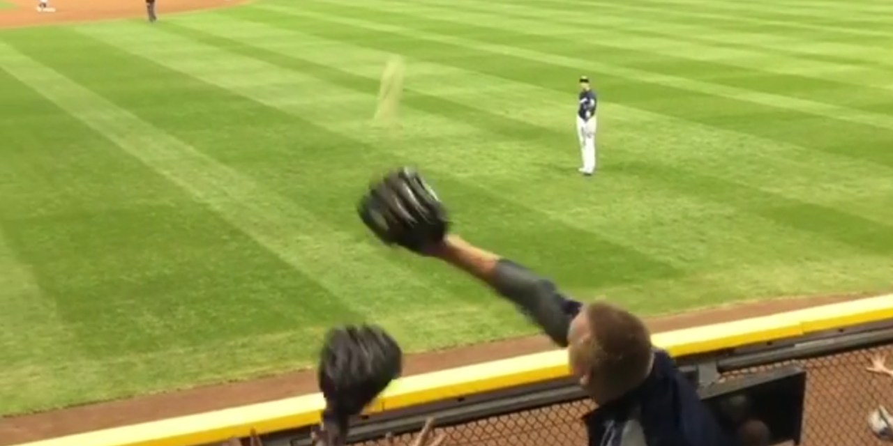 Grown Man Catches a Ball Meant for a Kid and Refuses to Give it to the Kid