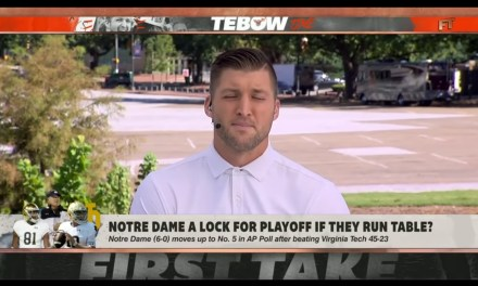 Tim Tebow Throws Shade at Notre Dame