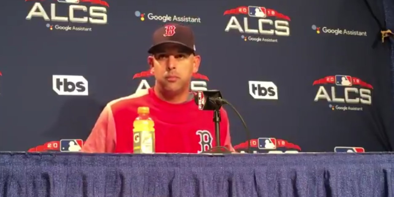Alex Cora Was Ejected from Game 1 of the ALCS for Arguing Balls and Strikes