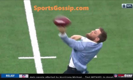 Conor McGregor Trying to Throw a Football