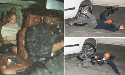 J-Lo and A-Rod's Driver Runs over a Photographer as They Leave Craig's