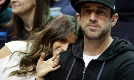 Aaron Rodgers Has a Nice Photo of Him and Danica In his Kitchen