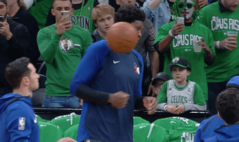 Joel Embiid Took a Ball to the Face Last Night