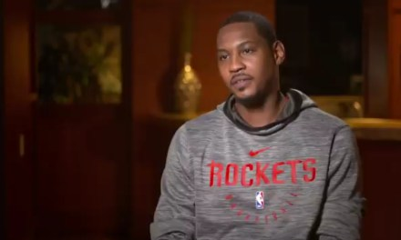 Carmelo Anthony Explains Changing His Mind About Coming Off the Bench and Wearing a Hoodie in the Bahamas