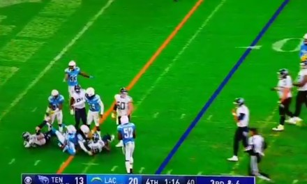 Titans Tackle Taylor Lewan Was Not Flagged for Launching Himself into a Defender