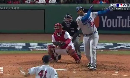 Matt Kemp Put the Dodgers on the Board with a Solo Home Run into the Monster Seats