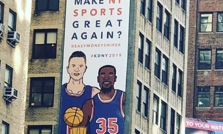 Billboard Near Madison Square Garden Tries to Lure Kevin Durant to Knicks