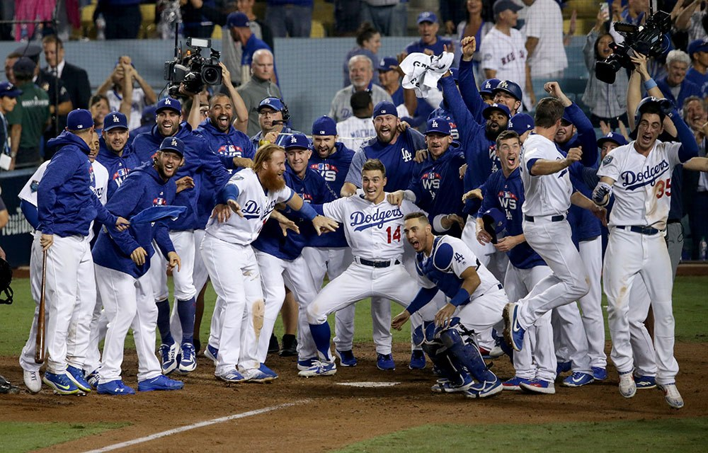 Watch the Los Angeles Dodgers React to Walk-off in Longest  Game in World Series History