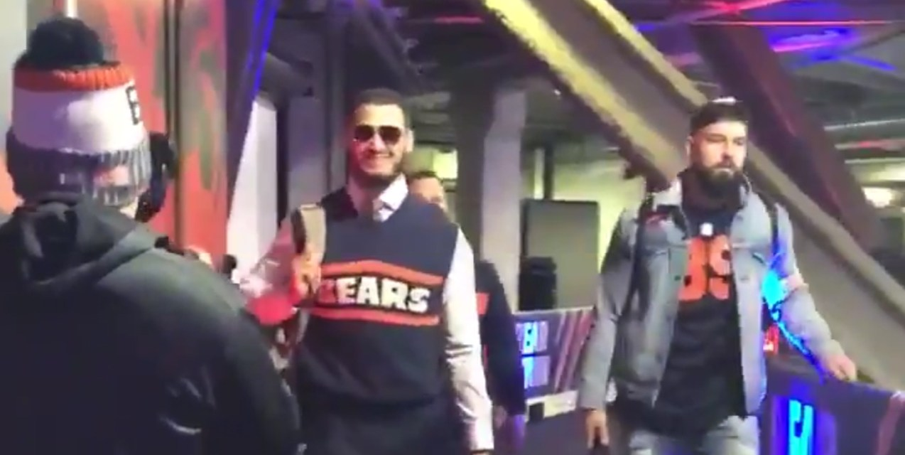 Bears QB Mitchell Trubisky Showed Up to Sunday's Game Dressed Up as Mike Ditka