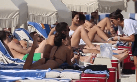 Danny Amendola Spotted at the Beach with an Olivia Culpo Lookalike