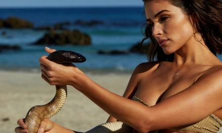 Olivia Culpo Posed with a Snake for SI Swimsuit, P Diddy isn't Scared of Clowns & Jimmy Kimmel's Halloween Candy Challenge