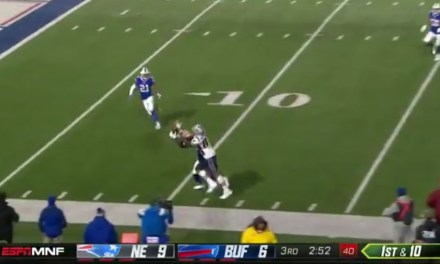 Gronk Made an Incredible Juggling Catch Along the Sideline