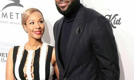 LeBron James' Wife Savannah Puts Apple Sauce on her Pizza