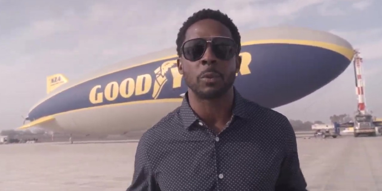 Desmond Howard & LA Sports Equinox in the Goodyear Blimp