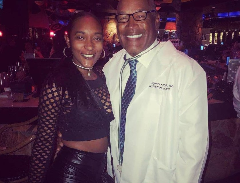 O.J. Simpson Dressed up as an OB-GYN  For Halloween