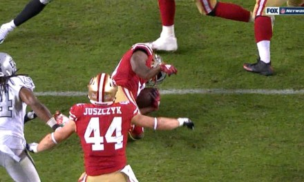 49ers Running Back Raheem Mostert Suffered a Nasty Broken Arm During Win Over the Raiders