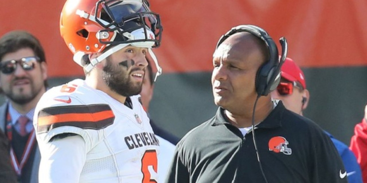 Hue Jackson Says He Was Fired Because of Baker Mayfield