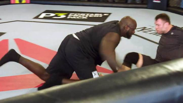 Shaquille O'Neal Gets Inside the Octagon with UFC Legend Forrest Griffin