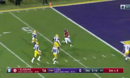 Alabama's Tua Tagovailoa Gashed the LSU Defense for a 44-Yard Touchdown Run