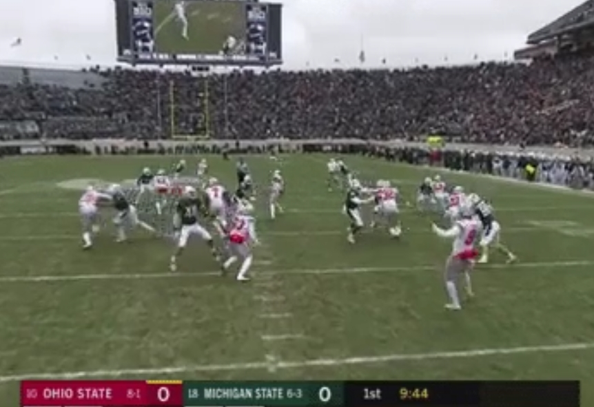 An Ohio State Punt Went Four Yards and Ended up in the Seats