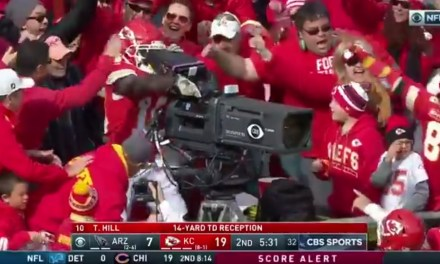 Tyreek Hill Celebrated a Touchdown by Operating a Camera