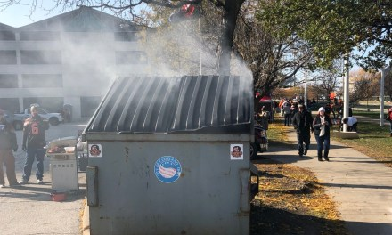There Was an Actual Dumpster Fire in Cleveland Before the Browns Game
