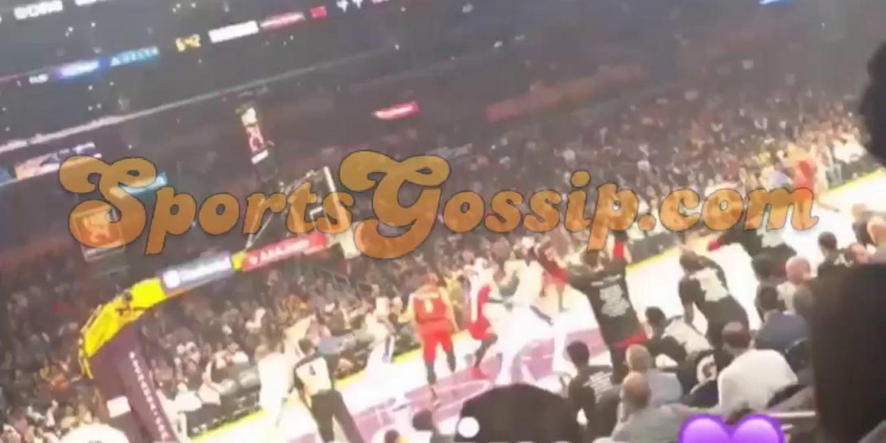Amber Washington at Lakers Game