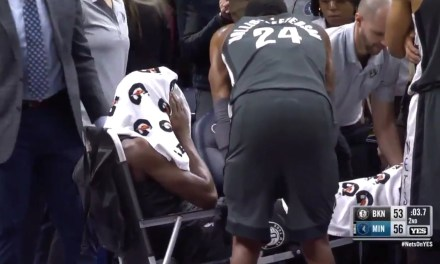 Nets' Caris Levert Stretchered off the Court after Suffering a Nasty Injury to His Right Ankle
