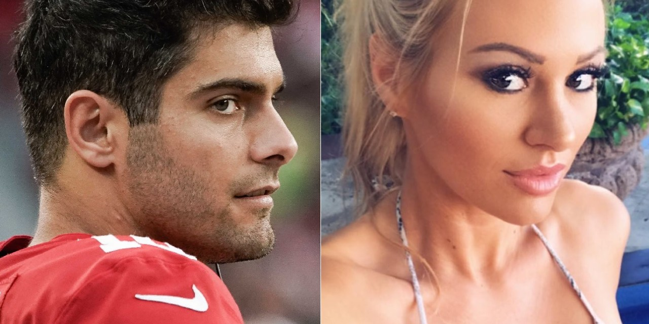 Hot Playboy Model Kindly Myers Calls out Jimmy Garoppolo For Not Tipping Her
