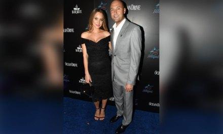 Derek and Hannah Jeter Celebrate Marlins New Logo in Style