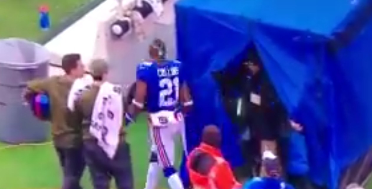 Giants' Landon Collins Trashes Medical Tent after Being Evaluated for a Concussion