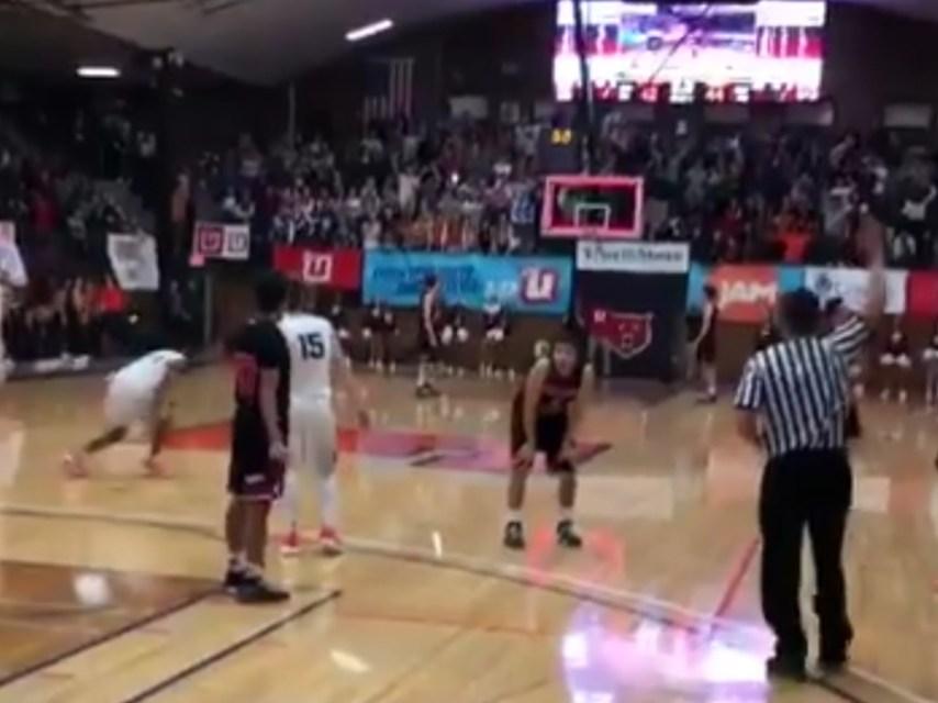 Freshman High School Basketball Player Nails Full Court Buzzer Beater