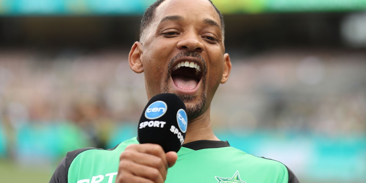 Will Smith Celebrates the Eagles Win