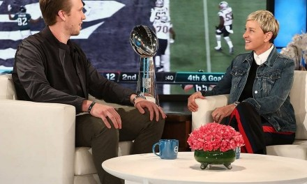 Nick Foles Stops by Ellen for his First Post Superbowl TV Interview