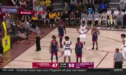 Male Cheerleader Ejected During Arizona-Arizona State Game For Heckling A Referee
