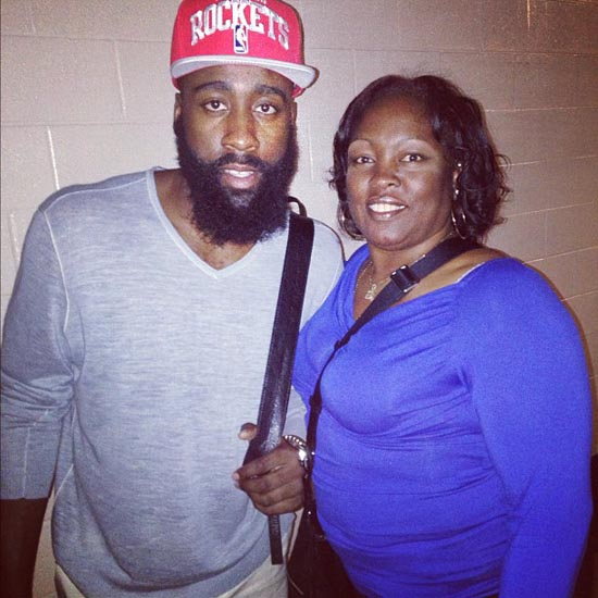 ee7ad5bdc95f Chris Paul Turns it Over Trying to High Five James Harden s Mom ...