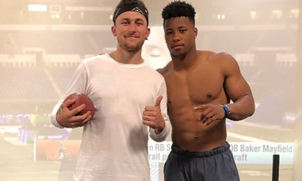 Johnny Manziel Worked Out With Saquon Barkley
