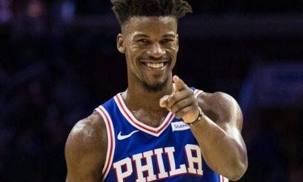 Jimmy Butler Gave Away Pairs Of Jordans To Everyone in the Entire Sixers Organization