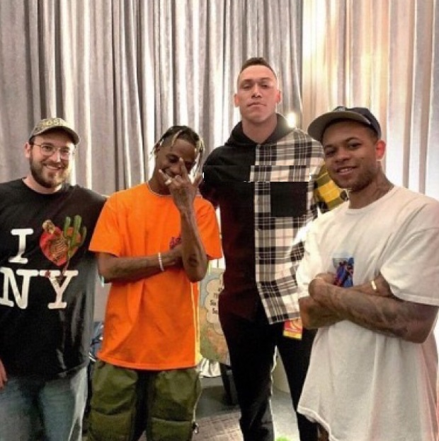 Aaron Judge Posts Pic with Travis Scott at MSG