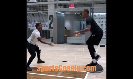 Carmelo Anthony Training Hard