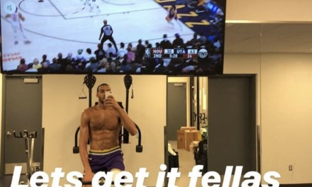 Rudy Gobert Watched the Rest of the Jazz Game from the Weight Room Following his Ejection